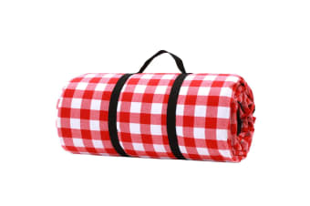 Picnic Blanket with Carry Bag 3mx3m (Red/White)
