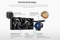 Coolermaster MasterLiquid Pro 280 CPU Cooler, 280mm Radiator, Dual Chambers Design, 2x140mm Air Balance Fan. 5 Years Warranty