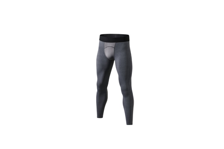 Men'S Compression Pants Cool Dry Baselayer Tights Leggings - Grey Grey S
