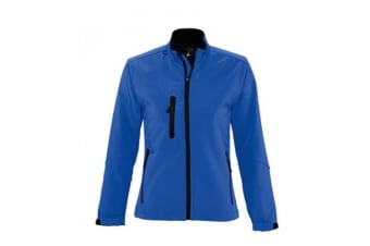 SOLS Womens/Ladies Roxy Soft Shell Jacket (Breathable  Windproof And Water Resistant) (Royal Blue) (L)