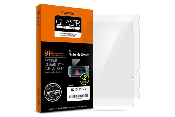 Spigen Nintendo Switch Screen Protector Tempered Glass / 2 Pack / 9H Hardness
