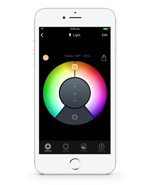 LIFX on App Colour Wheel