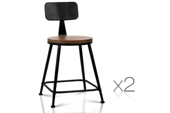 Industrial Dining Chairs Dark (Brown/Black)