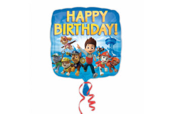 Amscan Paw Patrol Happy Birthday Square Foil Balloon (Blue) (One Size)
