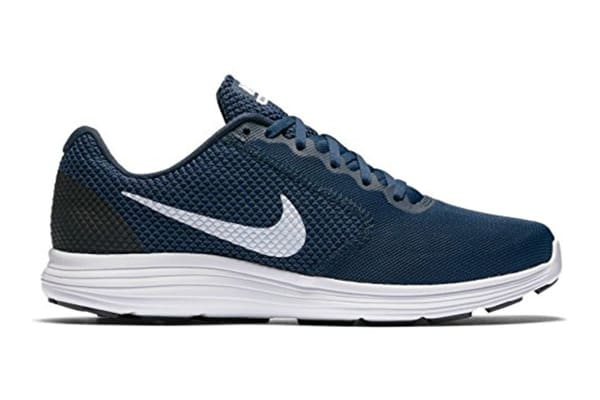 Nike Men's Revolution 3 Running Shoe (Navy/White/Obsidian, Size 8)