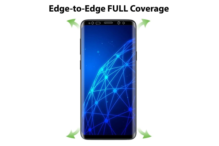 [3 Pack] Samsung Galaxy S9+ Ultra Clear Edge-to-Edge Full Coverage Screen Protector Film by MEZON – Case Friendly, Shock Absorption (S9+, Clear)