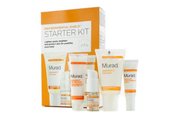 Murad Environmental Shield Starter Kit: Cleanser 45ml + Day Moisture SPF 30 21ml + Radiance Serum 10ml + Lightening Serum 7.5ml (4pcs)