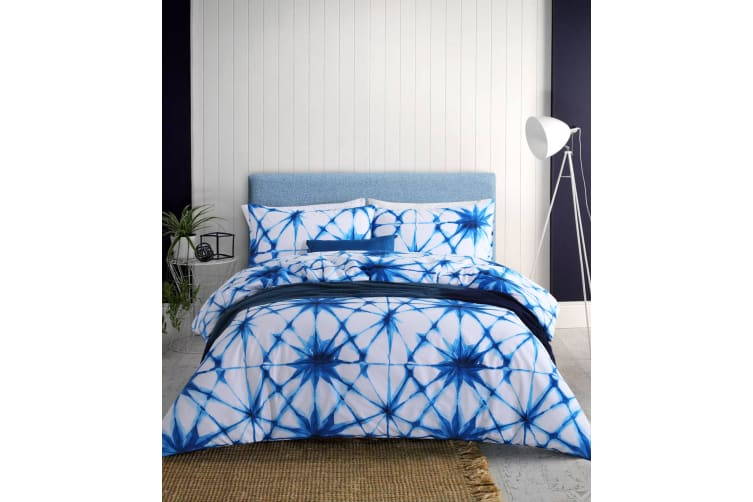 Dreamaker Shibori Printed quilt cover set Double Bed blossoms