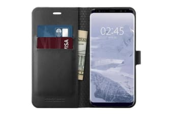 Spigen Galaxy S9 Premium Wallet Case- Black