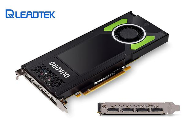 Leadtek nVidia Quadro P4000 PCIe Workstation Card 8GB DDR5 4xDP 1.4 4x5120x2880@60Hz 256-Bit 243GB/s 1792 Cuda Core Single Slot Full Height ~M4000
