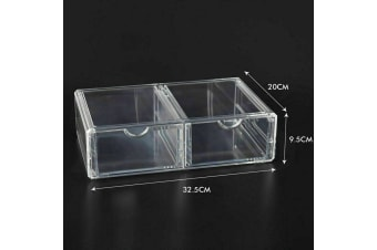 Cosmetic Organizer Clear Acrylic Jewellery Box Makeup Storage Case Drawers  -  F