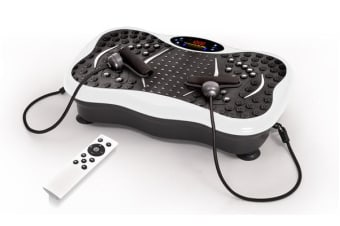 Vibration Machine Fitness Plate with Bluetooth and Massage Function White Colour