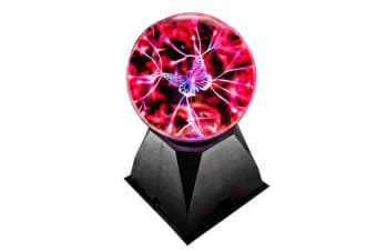 Plasma Ball Touch Sphere Lightning Lamp Light Party Magic With Butterfly