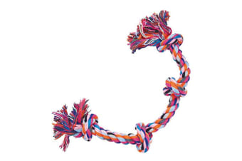 Gloria Cotton Rope 4 Knots Dog Toy (Multicoloured) (50cm)