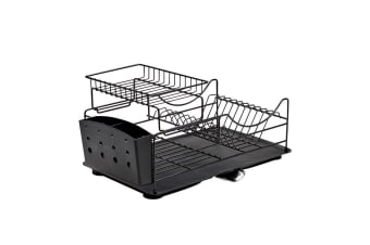 Salt & Pepper Sublime Dish Rack Stackable Black