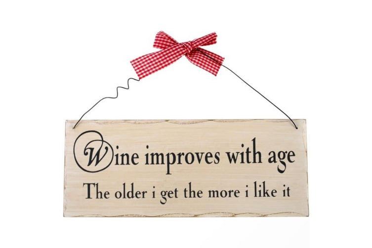 Something Different Wine Improves With Age Hanging Sign (Multicolour) (One Size)