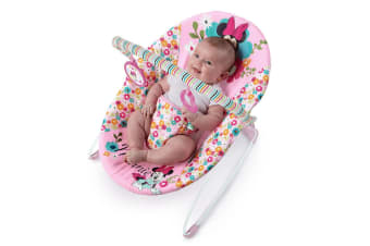 Bright Starts Minnie Mouse Perfect in Pink Vibrating Bouncer f/ Babies Girls 0m+