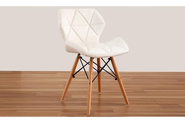 4 x Retro Replica Eames PU Leather Dining Chair - White