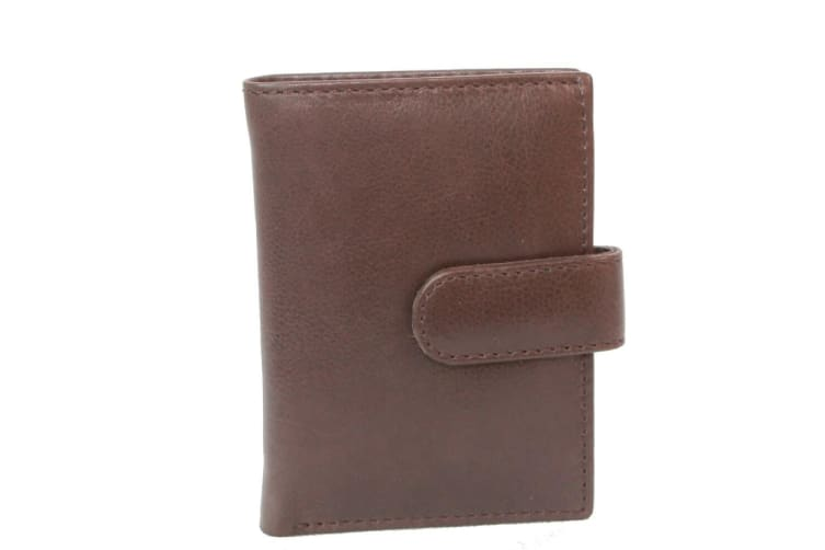 Eastern Counties Leather Ricky Credit Card Holder With Plastic Inserts (Brown) (One size)