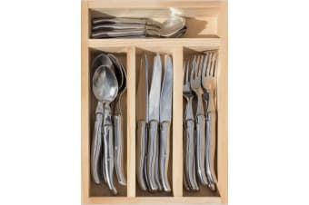Laguiole Jean Neron 24 Piece Cutlery Set Stainless Steel