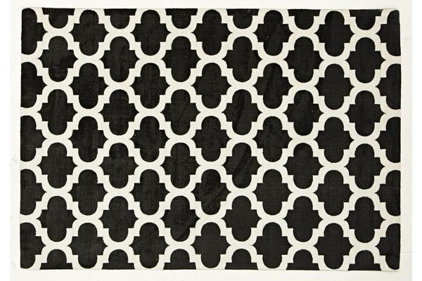 Trellis Stylish Design Rug Black 220x150cm