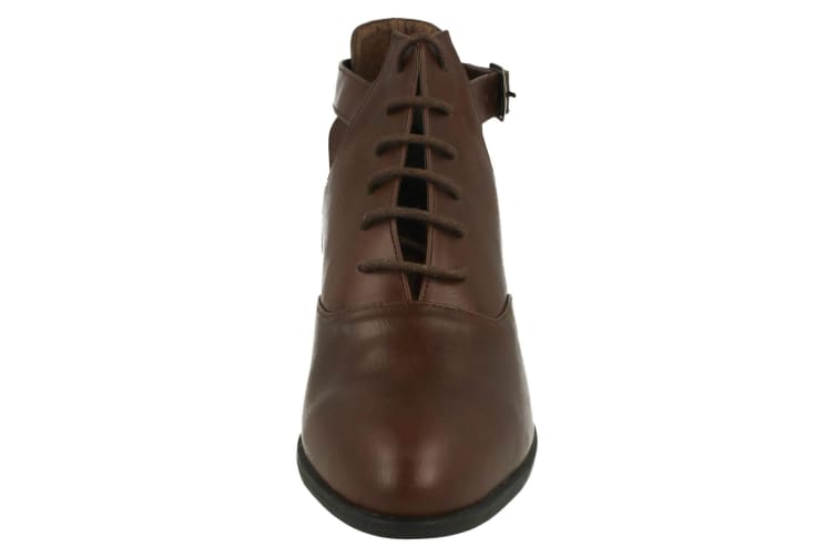 Spot On Womens/Ladies Low Heel Lace Up Ankle Boots (Brown) (7 UK)