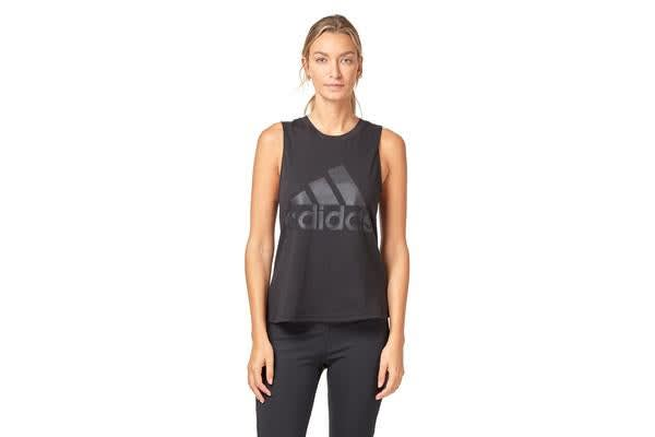 Adidas Women's Essential Solid Tank (Black, Size S)