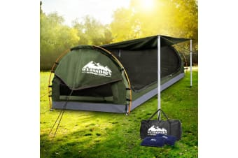 Weisshorn Double Camping Swags Canvas Swag Tent w/ Mattress Celadon