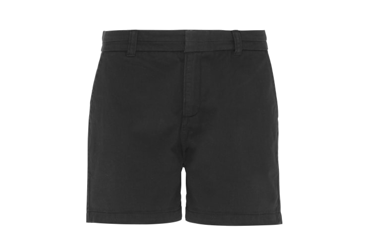 Asquith & Fox Womens/Ladies Classic Fit Shorts (Black) (2XL)
