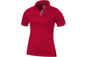 Elevate Womens/Ladies Kiso Short Sleeve Polo (Red) (XS)