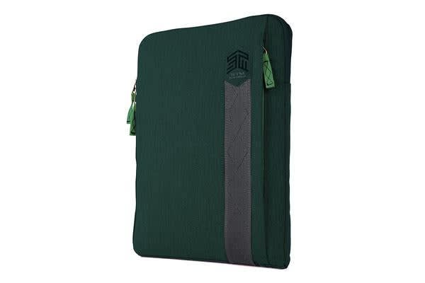 "STM Ridge Sleeve for 13"" Notebooks - Botanical Green water resistant fabric"