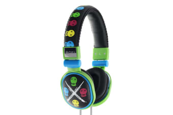 Moki Poppers Over Ear Headphones - Skull (ACCHPPOS1)
