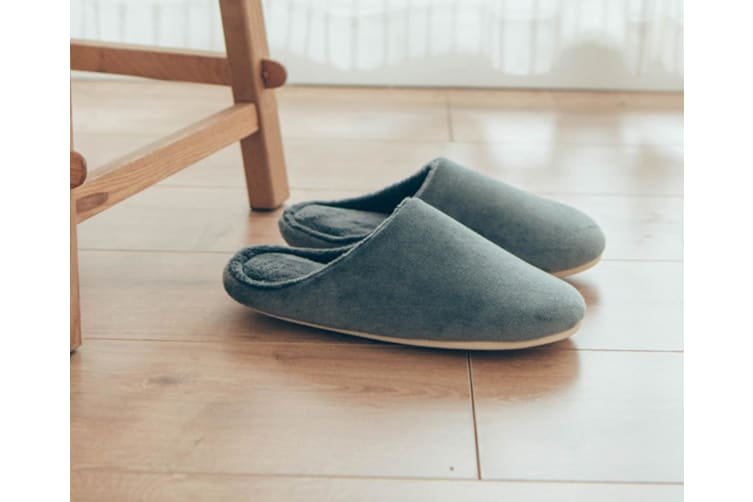 Memory Foam Washable Cotton Non-Slip Home Slippers - Grey Grey 43-44(265Mm Length)