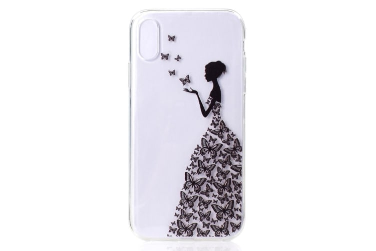 For iPhone XS MAX Cover Grippy Thin Slim Shockproof Phone Case Butterflies
