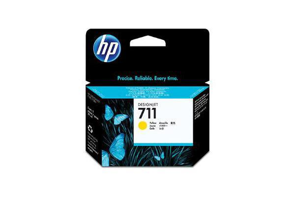 HP 711 29ml Yellow Ink Cartridge