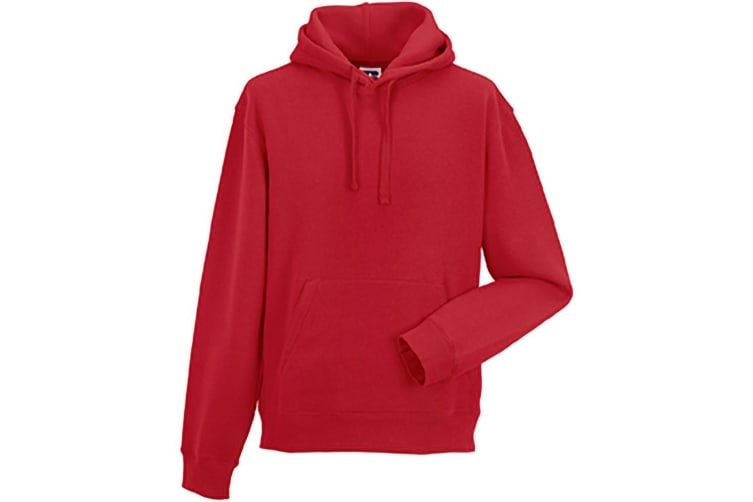 Russell Mens Authentic Hooded Sweatshirt / Hoodie (Classic Red) (S)