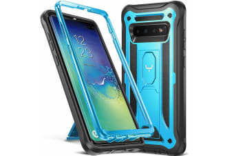 YOUMAKER HEAVY DUTY Shockproof KickStand Case Cover For Samsung Galaxy S10 Plus-Blue