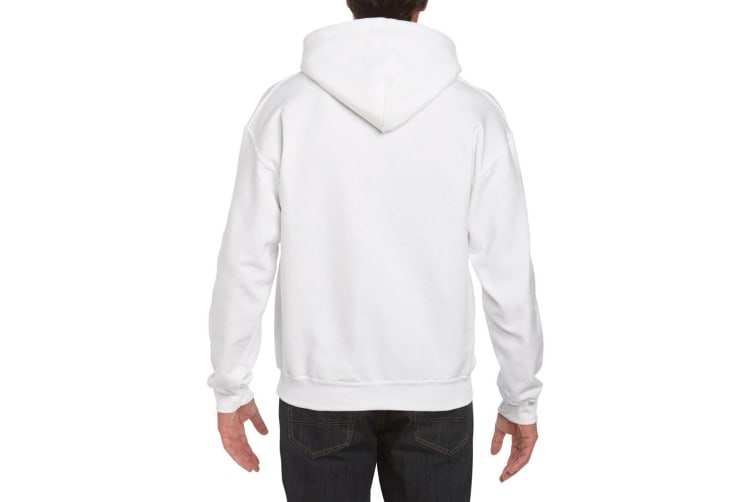 Gildan Heavyweight DryBlend Adult Unisex Hooded Sweatshirt Top / Hoodie (13 Colours) (White) (S)
