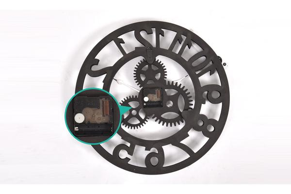 40cm Handmade Clock Large Gear Wall Clock Vintage Rustic Wooden luxury art vintage