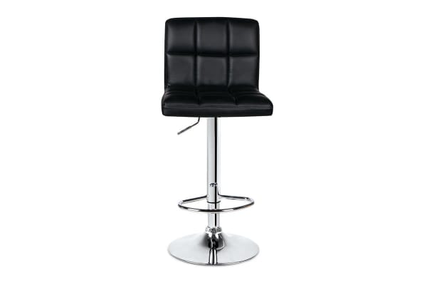 Ovela Set of 2 L Shape Bar Stools (Black)