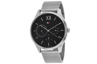 Tommy Hilfiger Men's Damon Watch (Grey Dial, Mesh Bracelet)