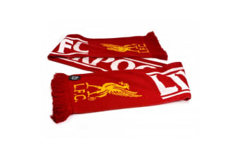 Liverpool FC Official Football Feather Scarf (Red/White/Yellow) (One Size)