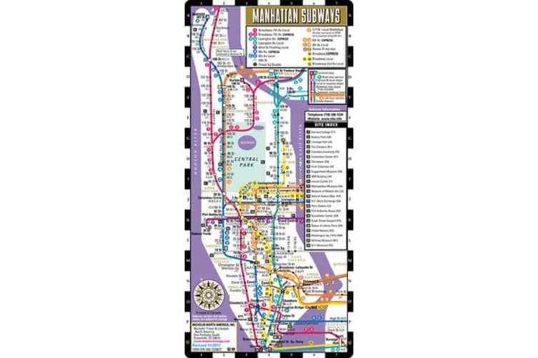 New York Subway Map Mobile.Streetwise Manhattan Bus Subway Map Laminated Subway Bus Map Of Manhattan New York