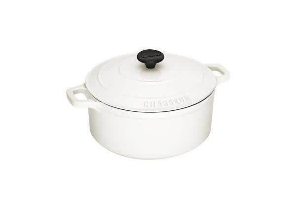 Chasseur Round French Oven 26cm - 5.2L Brilliant White