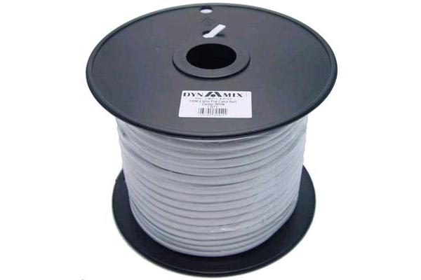 Dynamix 100M Roll 4 Wire Flat Cable. White  colour.