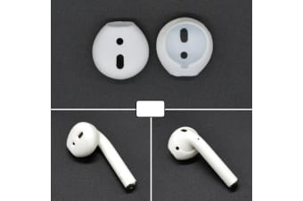 For 2 PCS For Apple Airpods Ear Caps White Wireless Bluetooth Silicone Ear Pads