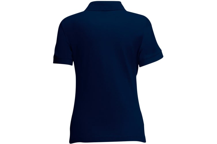 Fruit Of The Loom Womens Lady-Fit 65/35 Short Sleeve Polo Shirt (Deep Navy) (M)