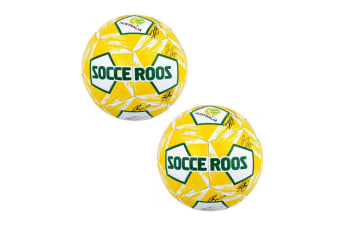 2PK Summit Size 5 Socceroos Signature Soccer/Football Stitched PVC 12 Panel Ball