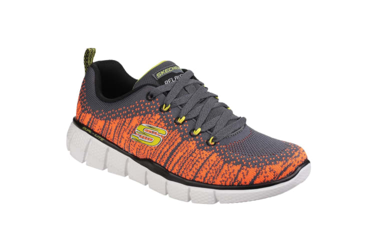 Skechers Childrens/Boys Equalizer 2.0 Perfect Game Memory Foam Lace Up Trainers (Charcoal/Orange) (10.5 Child UK)
