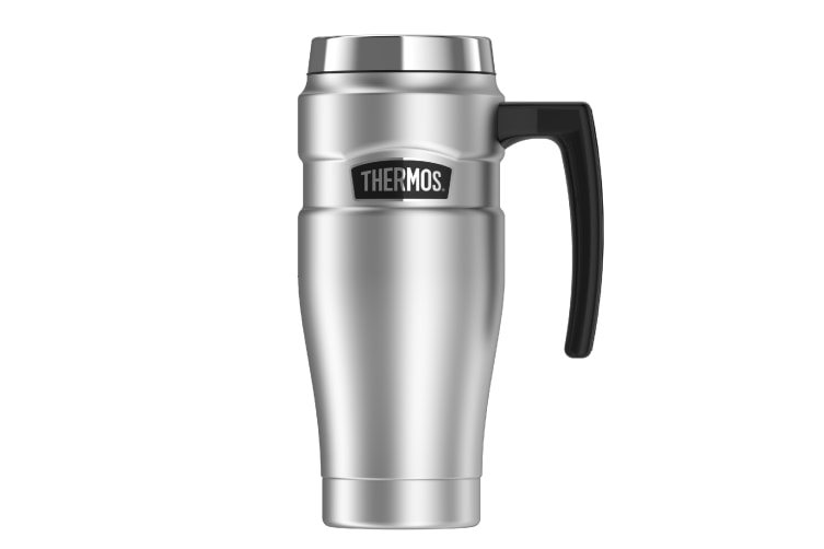 Thermos 470ml King Travel Mug - Red Or Blue-stainless Steel